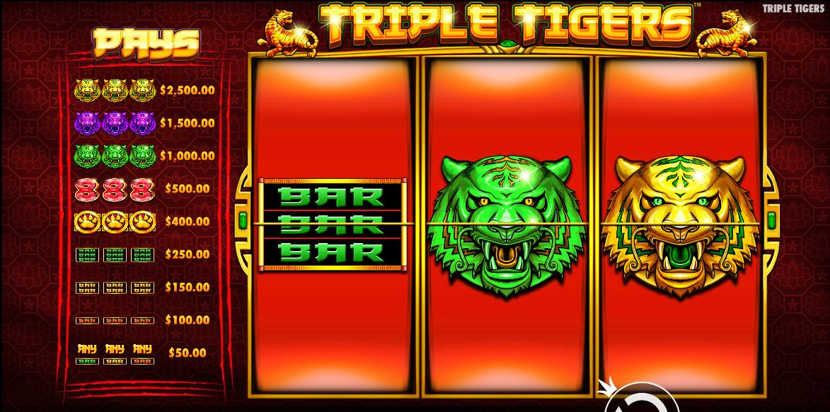 Triple Tiger Review Rollen